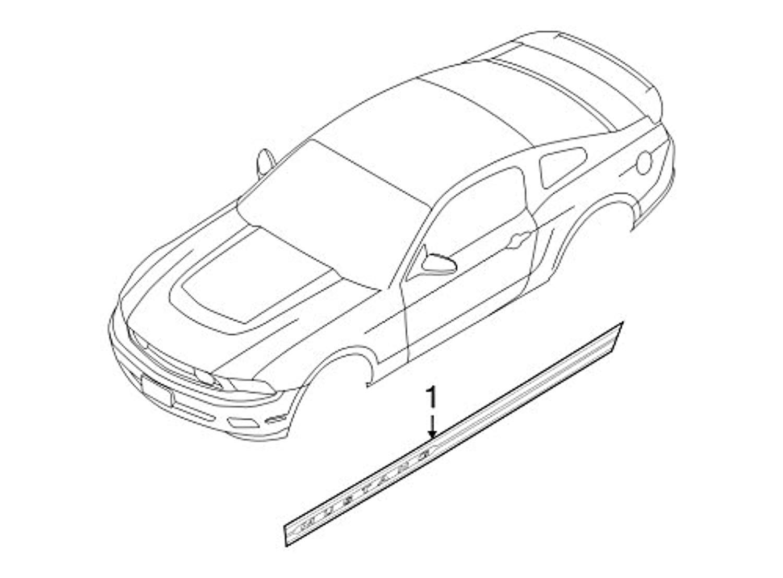 Ford Ar3z 6320001 Ag Decal Stripe