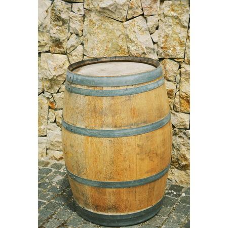 Canvas Print Stone Wine Cellar Barrel Iron Wine Wood Dragas Stretched Canvas 10 x 14