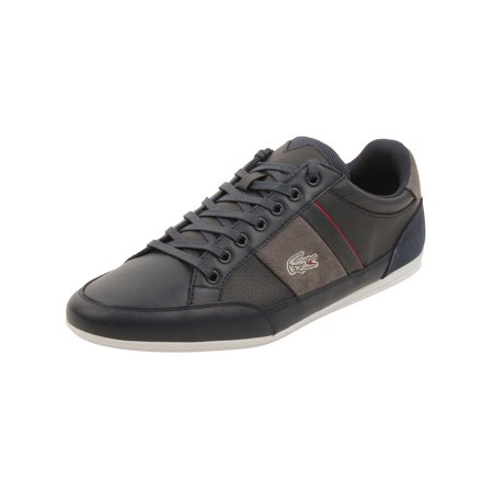 4985dccdc Lacoste Mens Chaymon 216 Sneakers in Navy Light Grey - Walmart.com