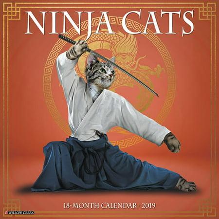 Willow Creek Press 2019 Ninja Cats Wall Calendar