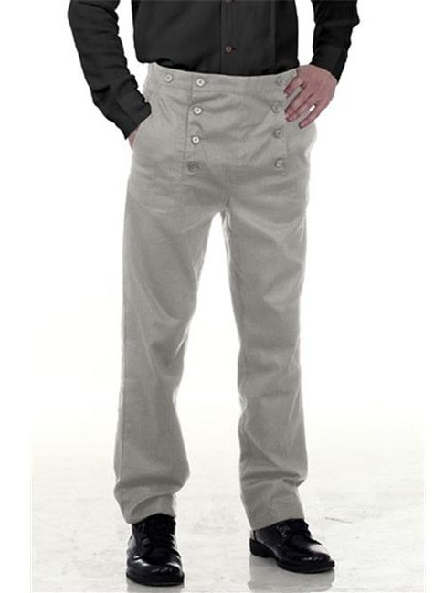 The Pirate Dressing C1403 Architect Mens Hundred Percent Cotton Pants, Grey - Large