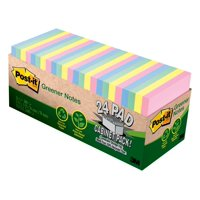 """Post-it Greener Notes, 3"""" x 3"""", Helsinki Collection, 24 Pads"""