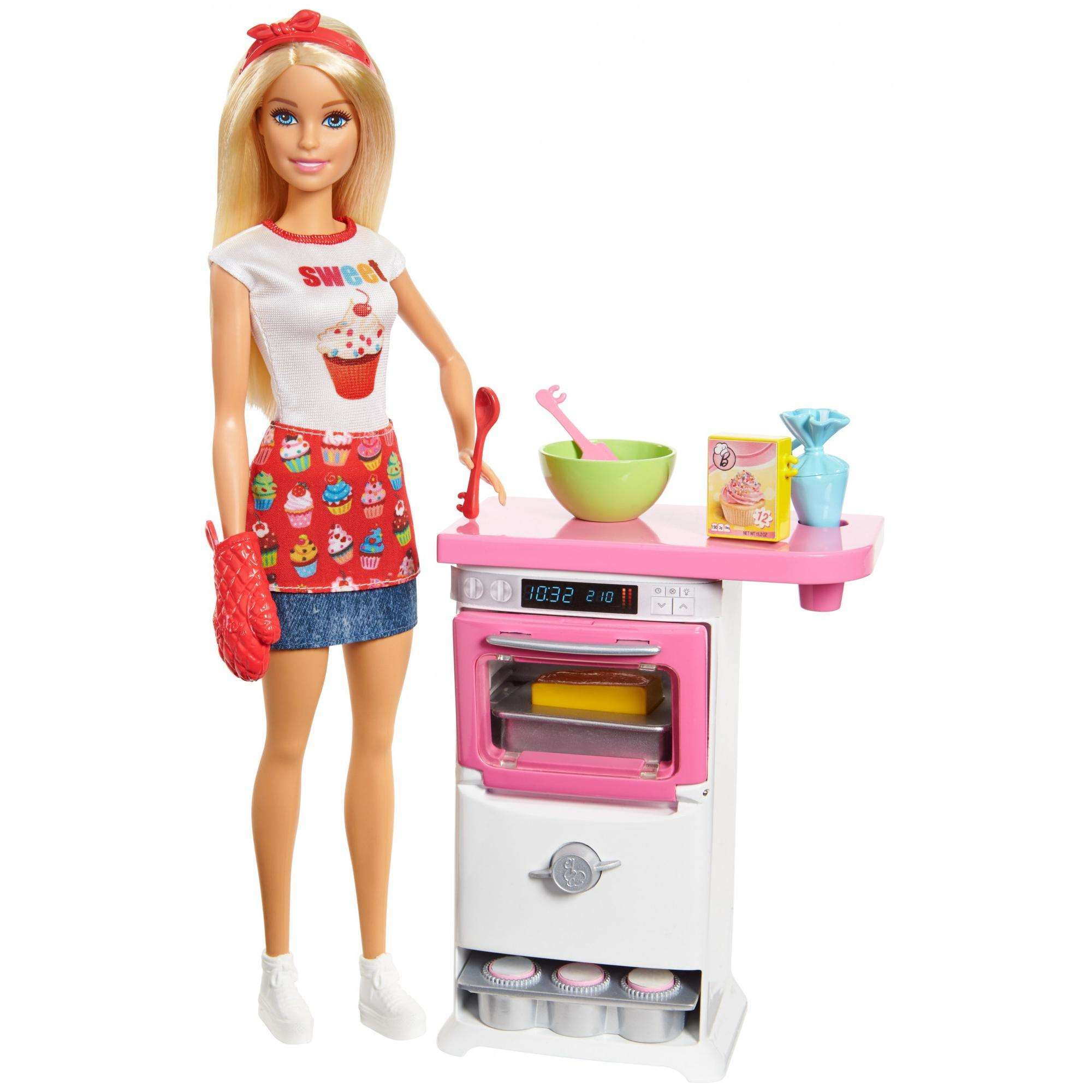 Barbie Cooking & Baking Chef Storytelling Doll and Play Set