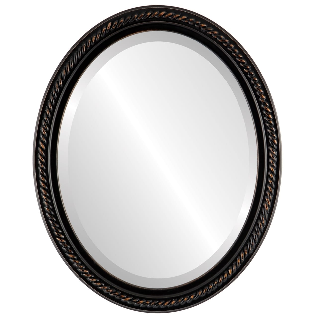The Oval and Round Mirror Store Santa Fe Framed Oval Mirror in Rubbed Bronze Antique Bronze by Overstock