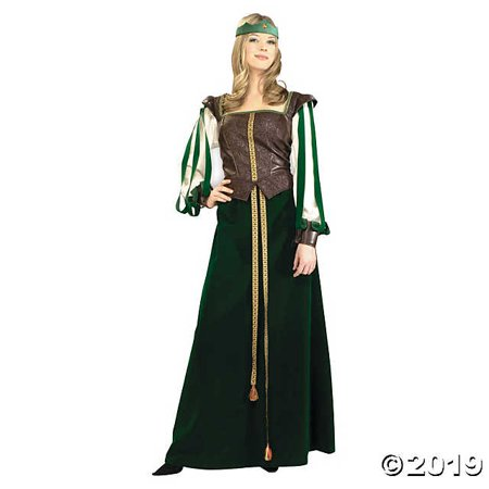 Robin Hood And Maid Marian Costumes (Women's Robin Hood Maid Marian Costume - Extra)