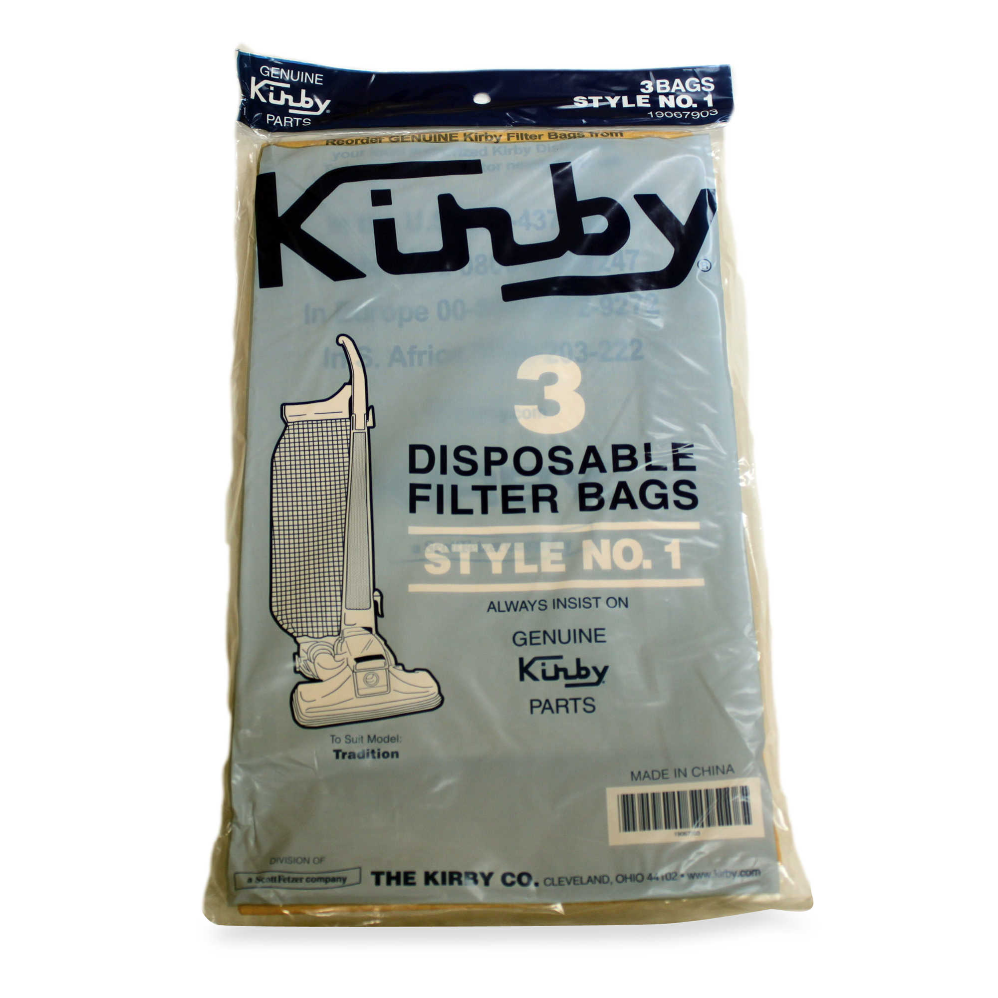 Kirby Style 1 Vacuum Cleaner Bags - 9 Pack - Part # 190679S