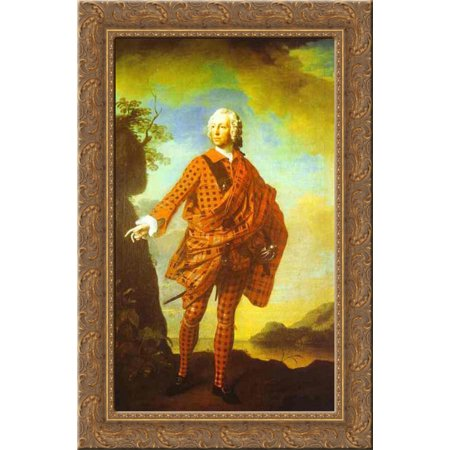 Norman The Red Man  22Nd Chief Of Macleod 18X24 Gold Ornate Wood Framed Canvas Art By Ramsay  Allan