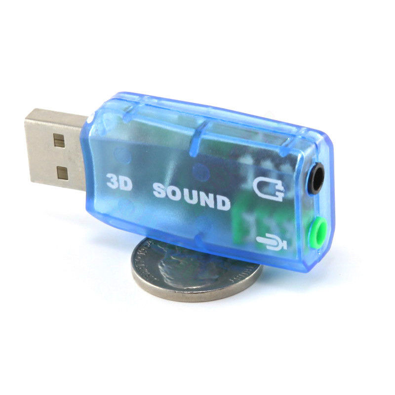 USB AUDIO CARD SOUND ADAPTER MICROPHONE 4 Speaker Mic