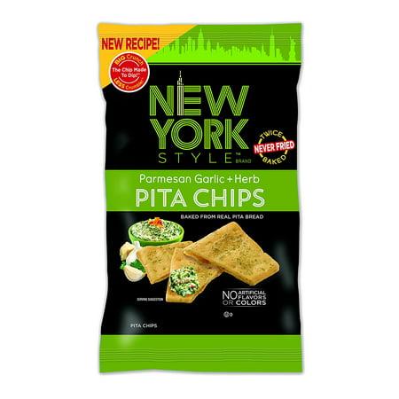 New York Style Pita Chips, Parmesan Garlic + Herb, 8 Ounce