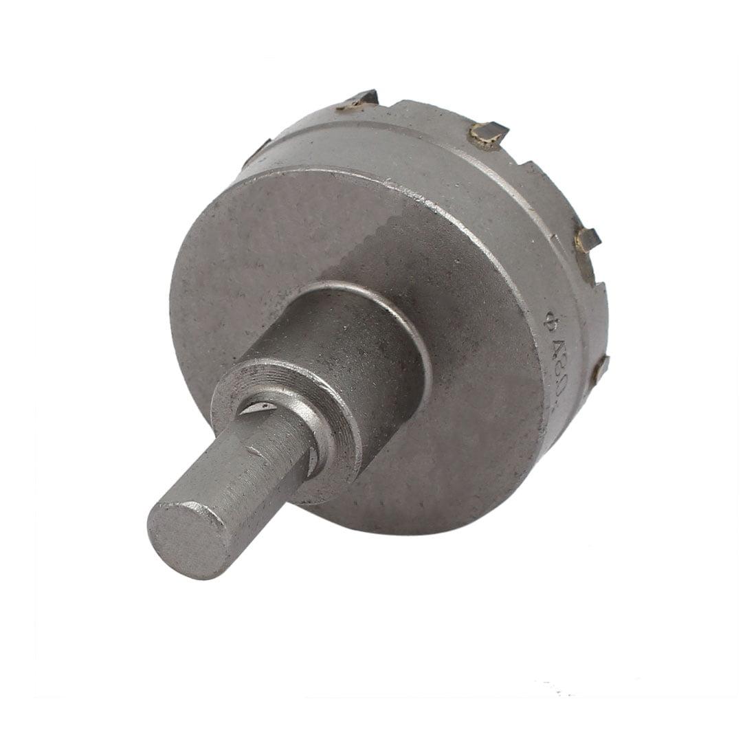 48mm Cutting Dia 6mm Twist Drilling Bit TCT Straight Shank Hole Saw Gray - image 2 de 3