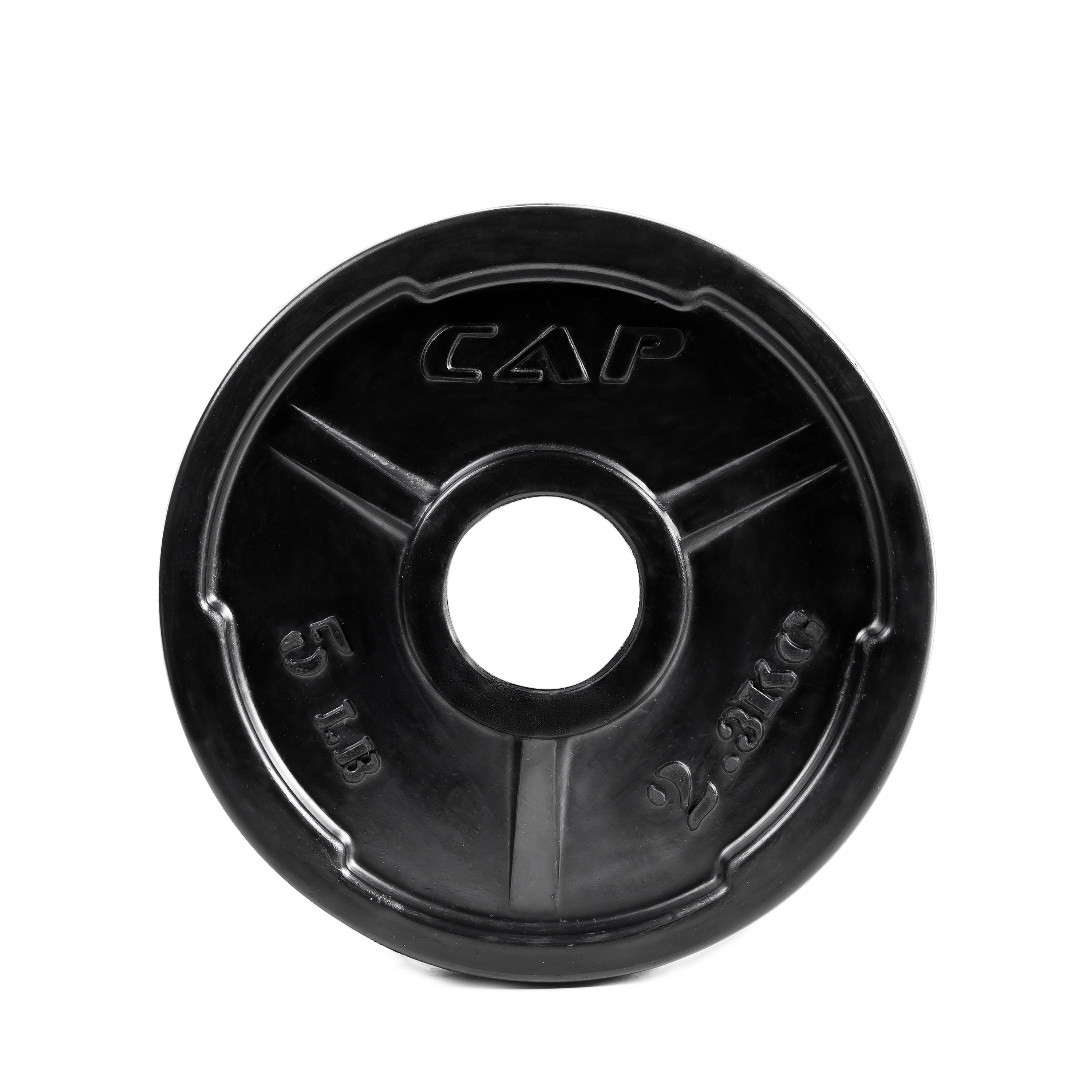 "CAP Barbell 2"" Olympic Rubber Encased Commerical Grip Plate, Single"