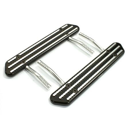 Integy RC Toy Model Hop-ups C25100BLACK Billet Machined T1 Side Step (2) Kit for SCX-10, Dingo, Honcho & Jeep