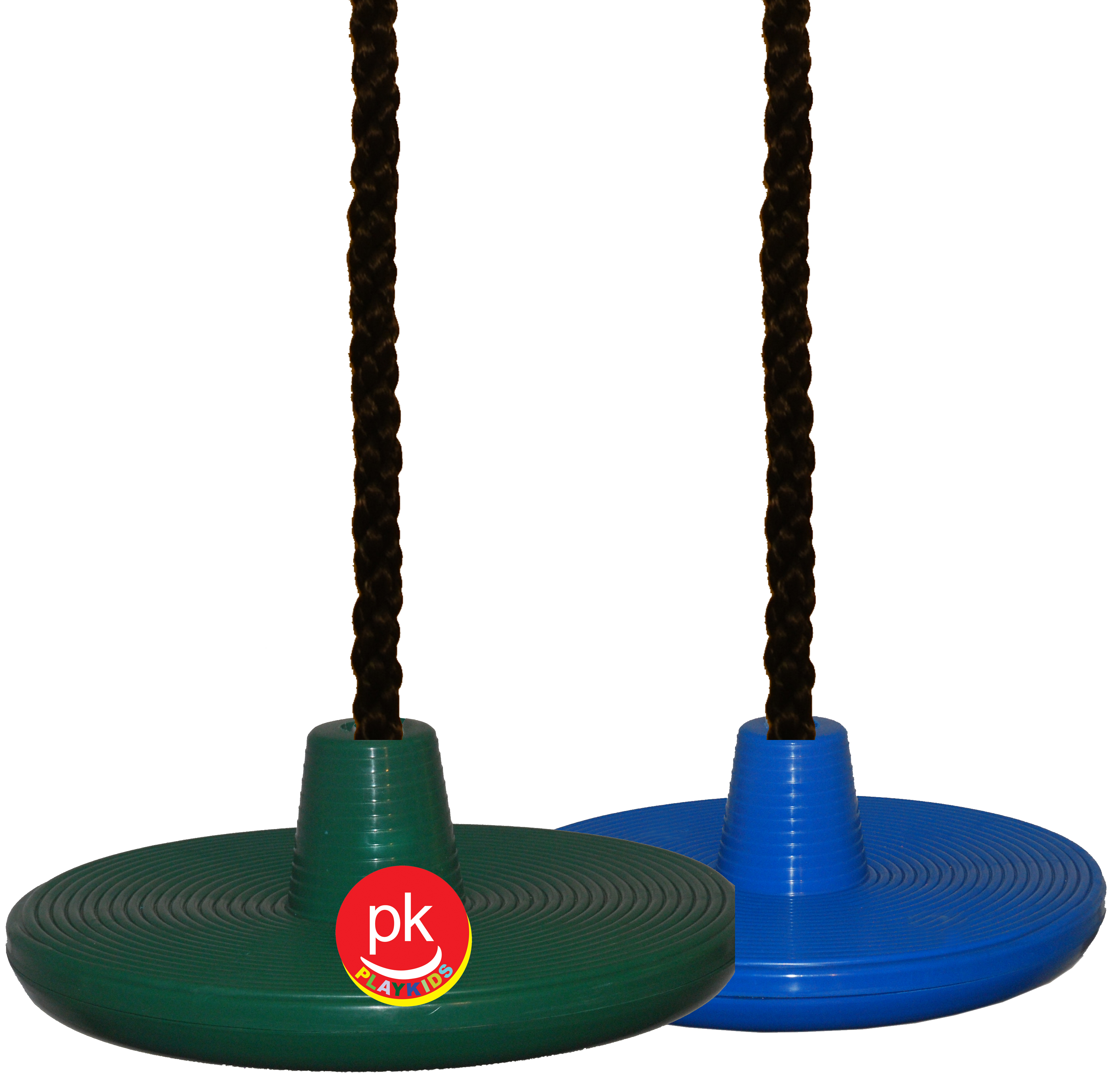 "Playkids wooden Swing Set disk with 3/4"" thick 17' Feet Long  to connect to a tree spin & twist Hardware Porch for Play Set Jungle Gym  Playground in Backyard"