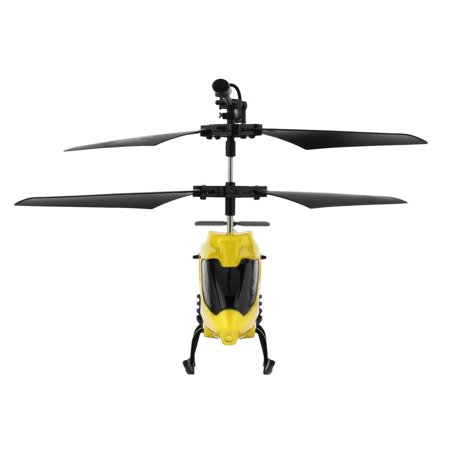 CNMODLE Electric Flying Toys 2CH 2 Channel Mini RC Helicopter Toys Remote Control Drone Radio Gyro Aircraft Plane Kids Toys XY802, Yellow