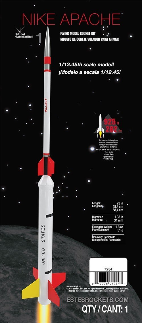 Flying Model Rocket Kit Nike Apache 7254..., By Estes Ship from US by