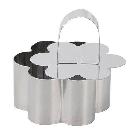 Stainless Steel Small Cake Rings Multiple Moulding Shapes for Choice Mousse Cookies Chocolate Pastry Mini Baking Mold with Pusher Lid Square - image 5 de 7