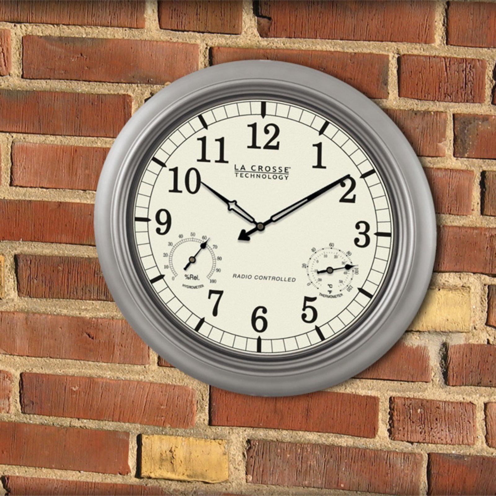 La crosse technology 18 atomic outdoor wall clock walmart amipublicfo Gallery
