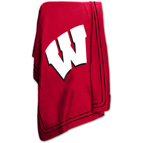 "Logo Chair NCAA Wisconsin 50"" x 60"" Classic Fleece Throw"
