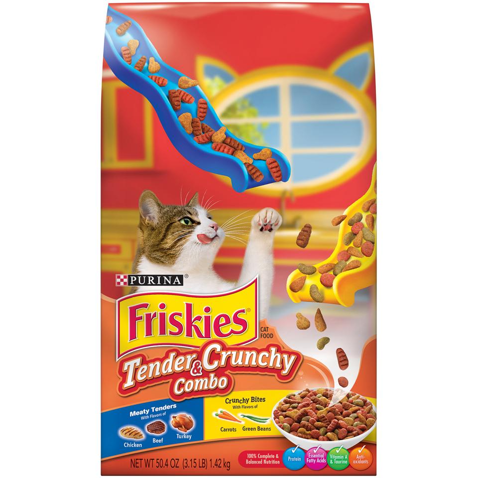 Friskies Tender & Crunchy Combo Adult Dry Cat Food, 3.15 lb