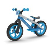 """Chillafish Bmxie 2 lightweight balance bike with integrated footrest and footbrake, for kids 2 to 5 years, 12"""" inch airless rubberskin tires, adjustable seat without tools, blue"""