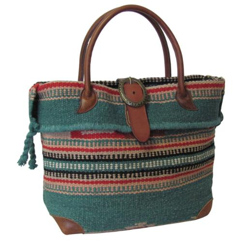 Amerileather  'Odyssey' Turquoise Tribal Print Wool-blend...