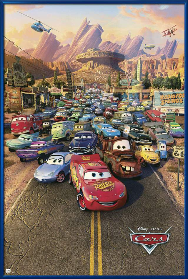 "Cars Disney   Pixar Movie Poster   Print (Regular Style) (Size: 24"" x 36"") by"