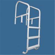 Saftron CBL-336-4S-BK Commercial In-ground 4 Step, Cross Braced Ladder 36 x 79 in. Black