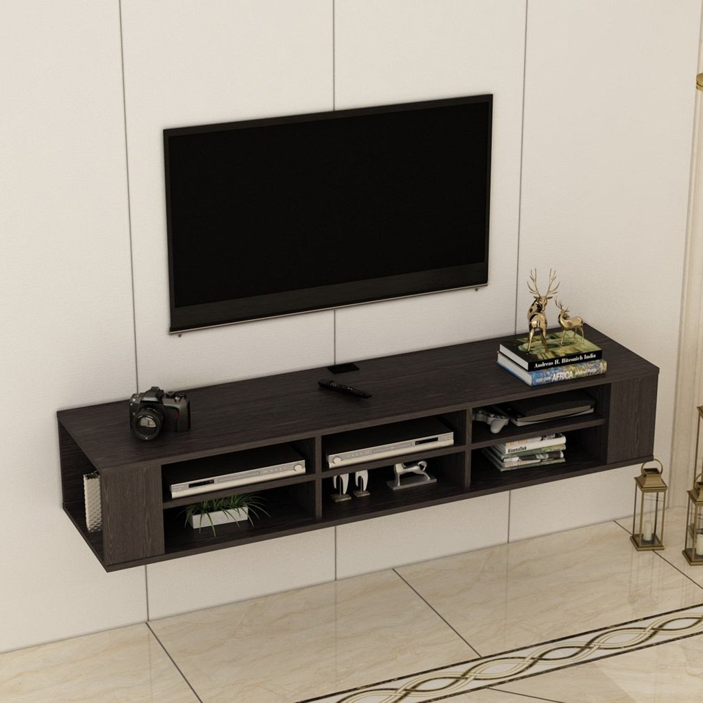 Floating Wall Mounted TV Media Console, Media Storage ...