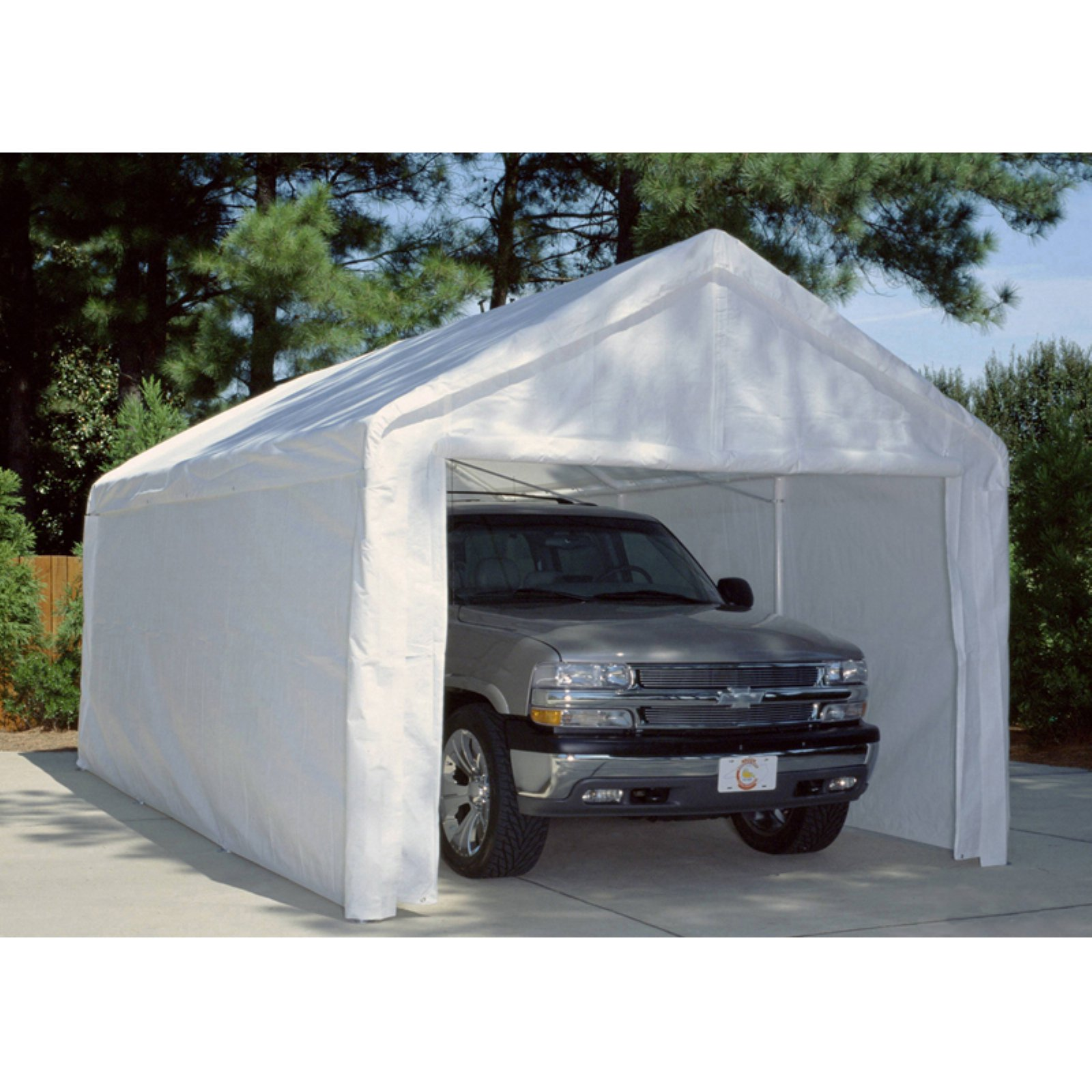 King Canopy White Side Wall Kit with Flaps-10 x 20 ft.