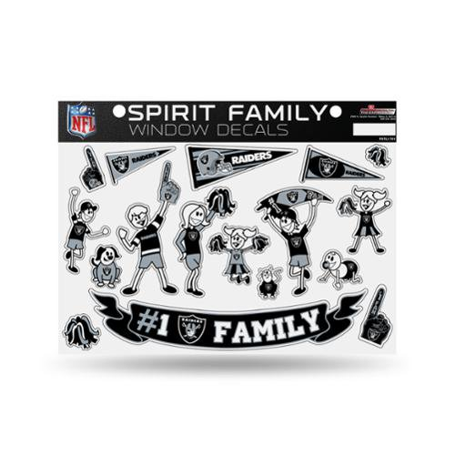 Oakland Raiders Nfl Spirit Family Car Window Decals Walmart Com Walmart Com