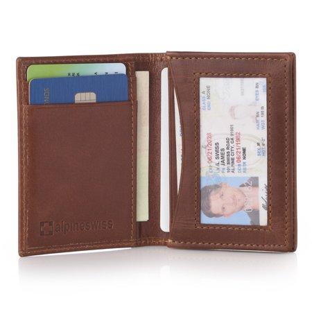 Alpine Swiss Alpine Swiss Rfid Leather Business Card