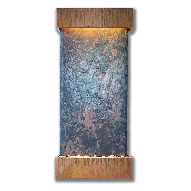 Nojoqui Falls Lightweight Large Wall Fountain w Indian Raja Slate (Patina Copper, 897087000449