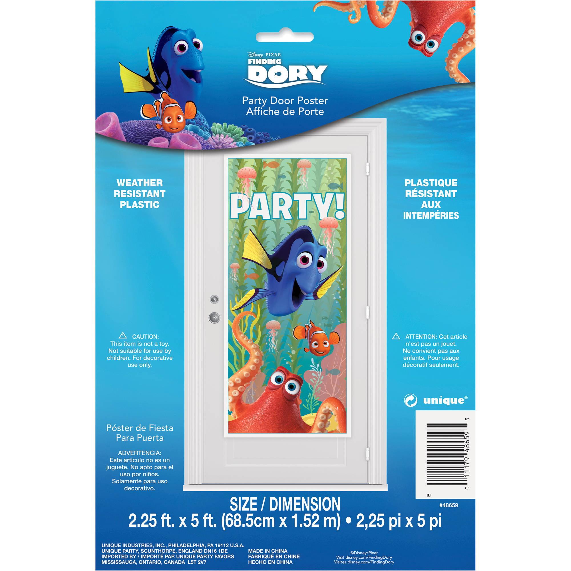 "Plastic Finding Dory Door Poster, 60"" x 27"" by Unique Industries"