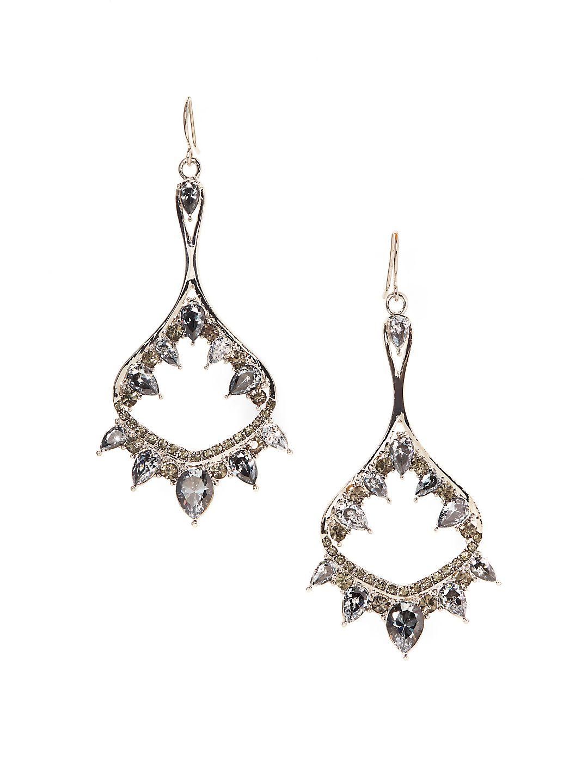 Dramatic Blue Opal & Crystal Statement Earrings