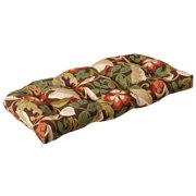 Outdoor Patio Furniture Wicker Loveseat Cushion - Floral Cafe