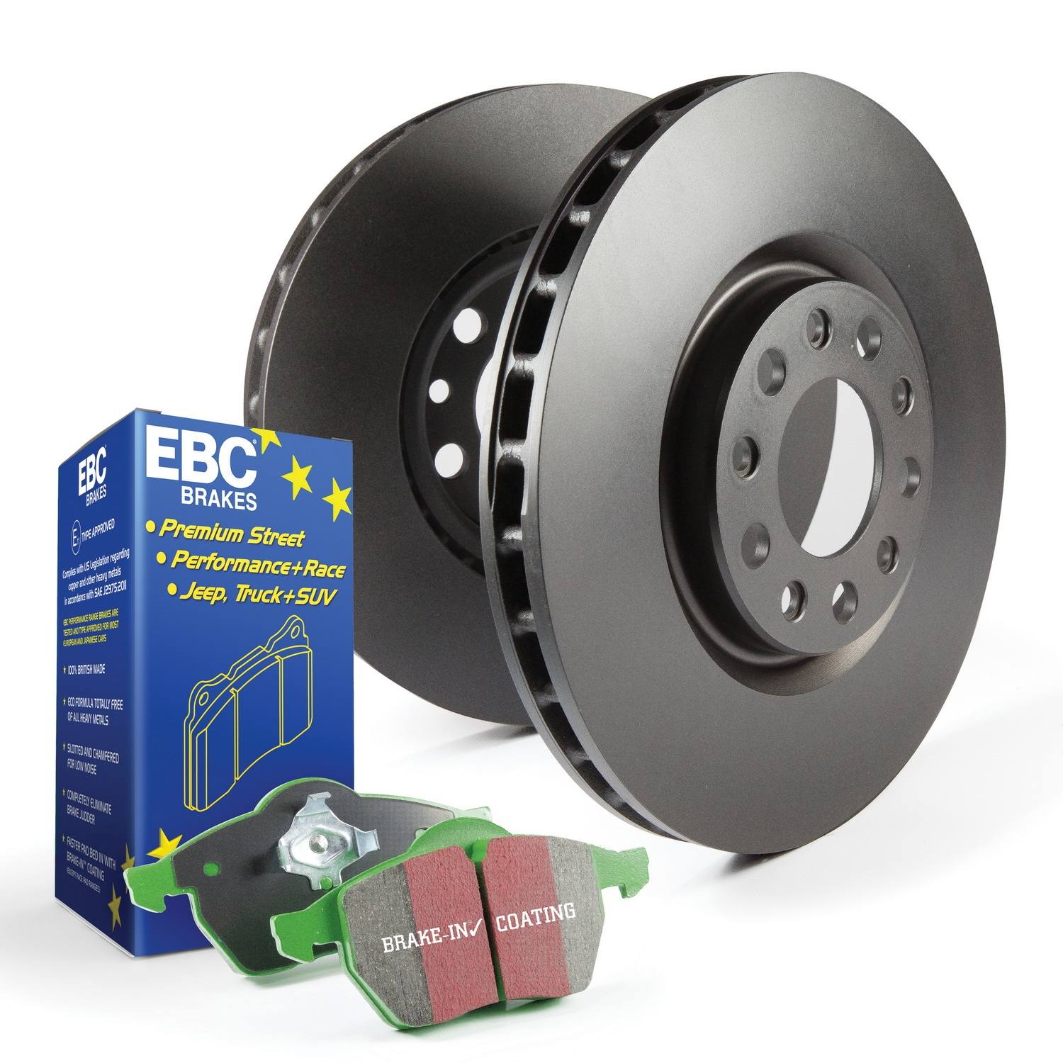 EBC Brakes S11KR1009 S11 Kits Greenstuff 2000 and RK Rotors Fits 630CSi 633CSi
