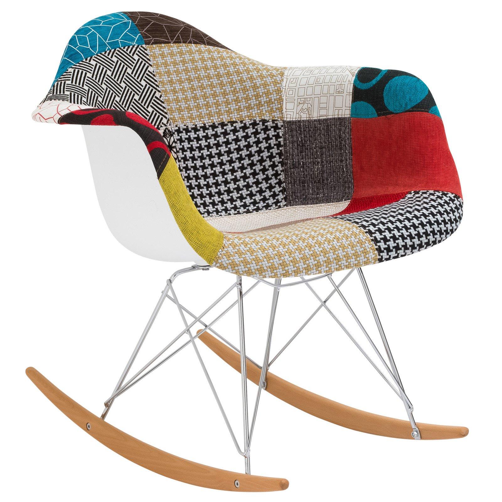 Edgemod Furniture Indoor Padded Patchwork Rocker