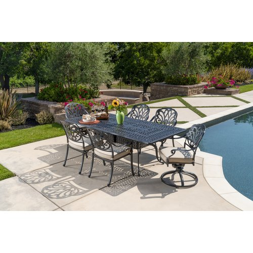 Darby Home Co Dunnes 7 Piece Sunbrella Dining Set with Cushions