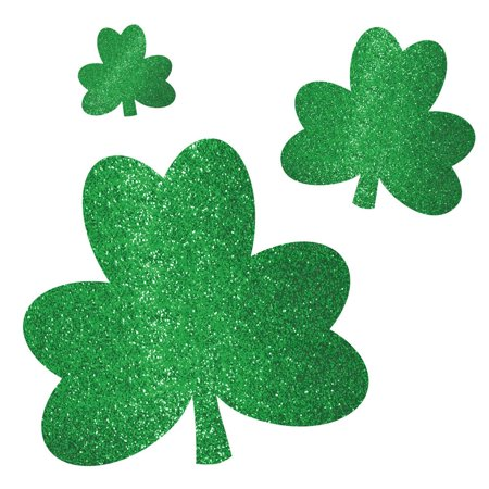 Glitter Shamrocks (St. Patrick'S Day Glitter Shamrock Cutouts (20 Pack) - Party)