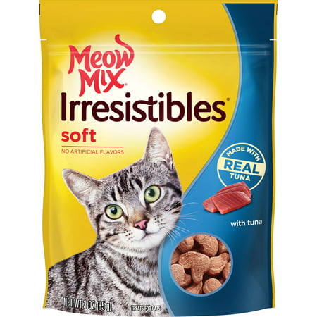Meow Mix Irresistibles Cat Treats, Soft With Tuna, 3-Ounce Bag