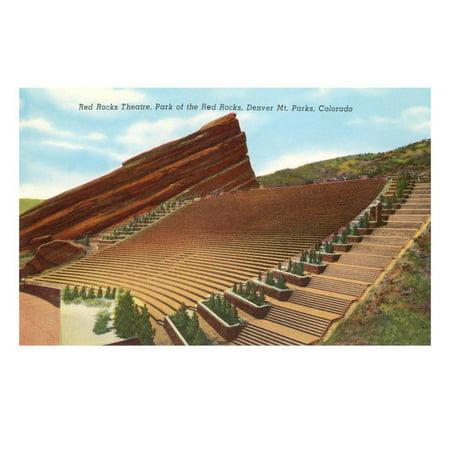 Red Rocks Theatre, Denver, Colorado Print Wall Art (Red Rocks Colorado)