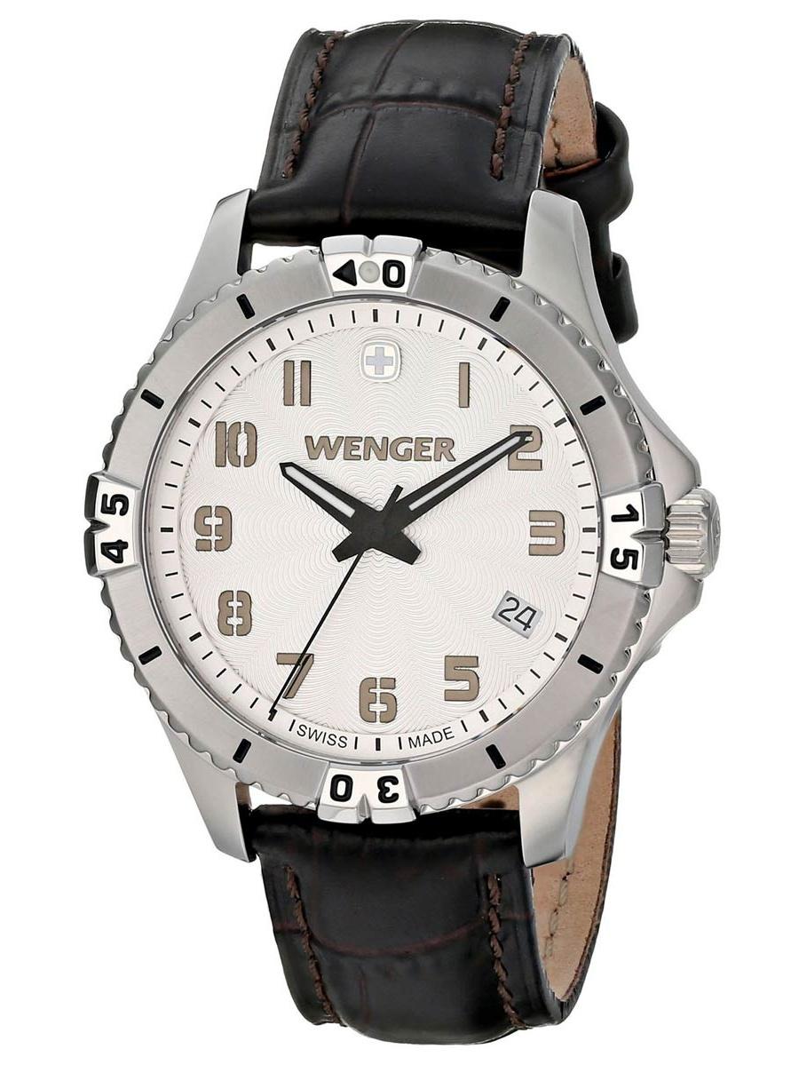 01.0121.106 Women's Squadron White Dial Black Leather Strap Watch