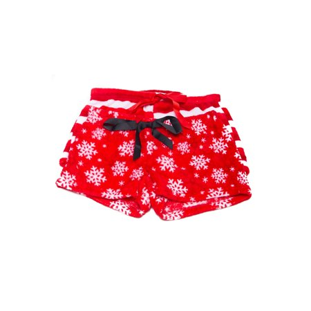 genx womens 2pk christmas cute animal plush sleepwear pajama shorts 2pksh walmartcom