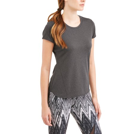 Avia Womens Active Short Sleeve Textured Performance T Shirt With Moisture Wicking