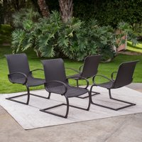 Coral Coast Baja Outdoor All Weather Wicker C Spring Lounge Chairs - Set of 4