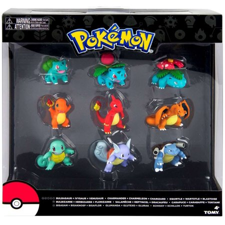Pokemon Evolution Bulbasaur, Charmander & Squirtle Figure 9-Pack