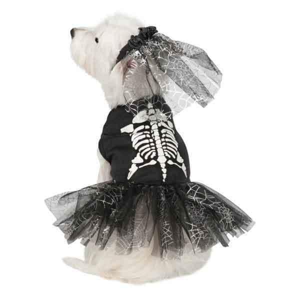 Casual Canine Glow Skeleton Zombie Dog Costume  XLarge