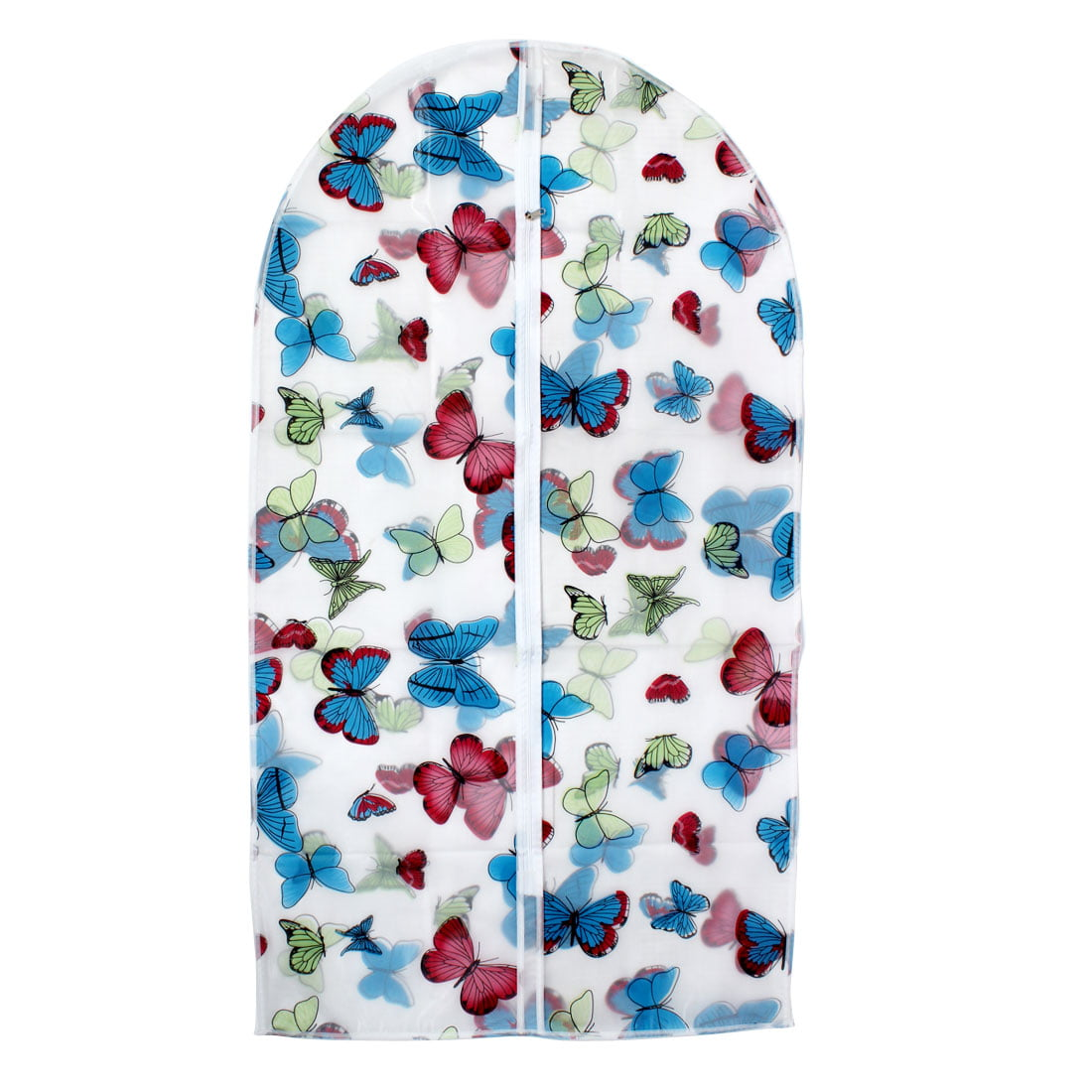 "Unique Bargains Clothes Suit Garment PEVA Butterfly Printed Dustproof Cover Bag 43"" Length"