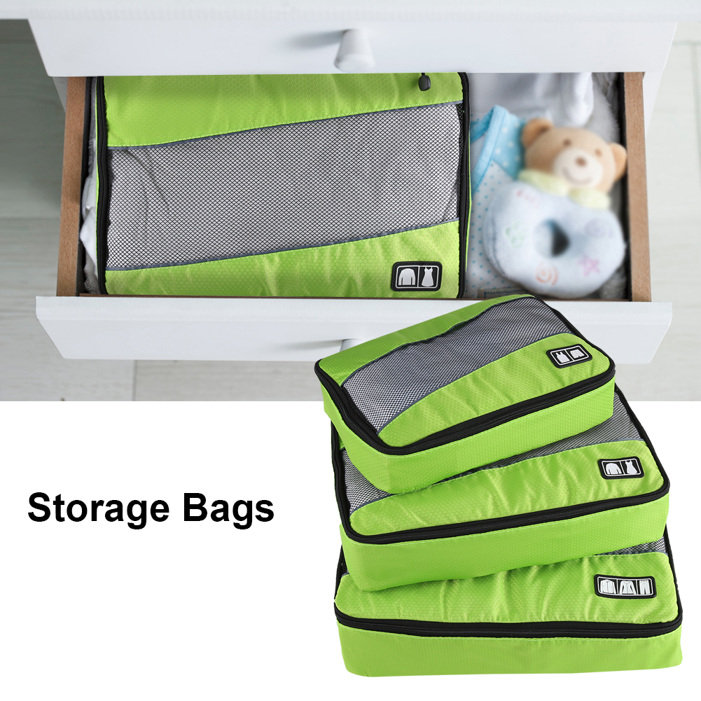 Yosoo Travel Storage Bags,3Pcs Portable Travel Clothes Bag Pouch Packing Luggage Storage Organizer Home Use