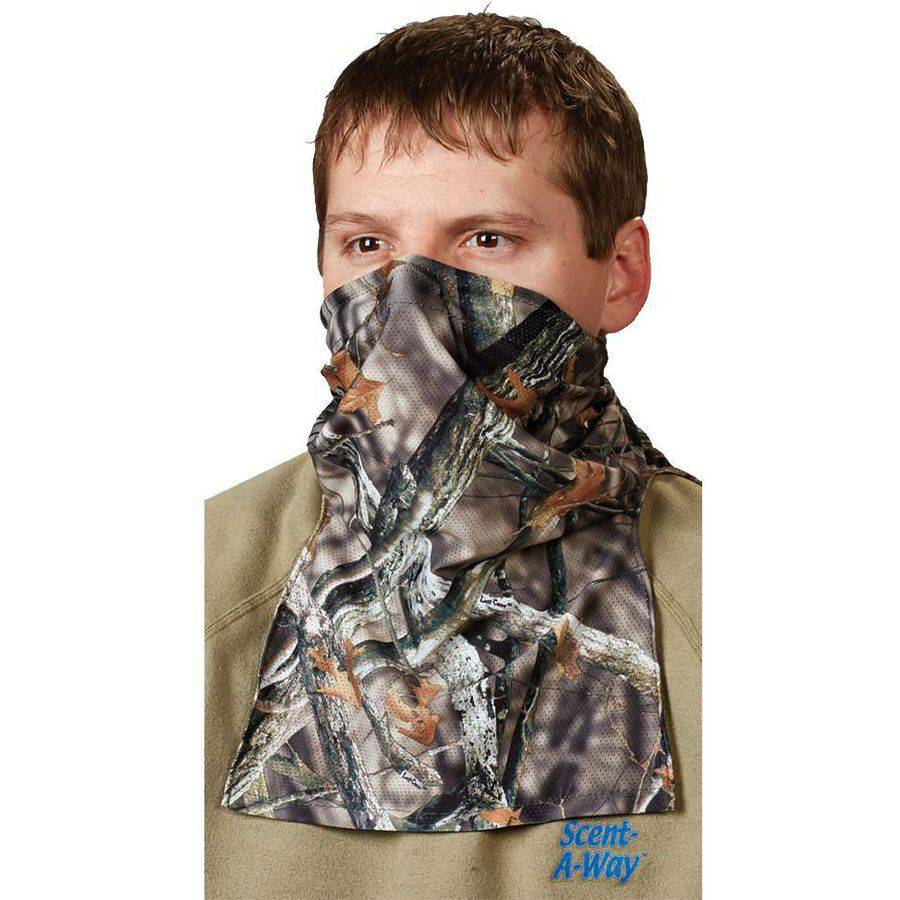 HuntersSpecial Spandex 1 2 Face Mask, Realtree Xtra, One Size with Scent-A-Way Silver by HUNTERS SPECIALTIES INC